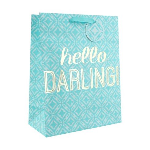 Aqua Hello Darling Large Gift Bag - Spritz™ - image 1 of 2
