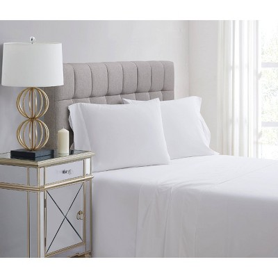 King 400 Thread Count Solid Percale Pillowcase Set White - Charisma