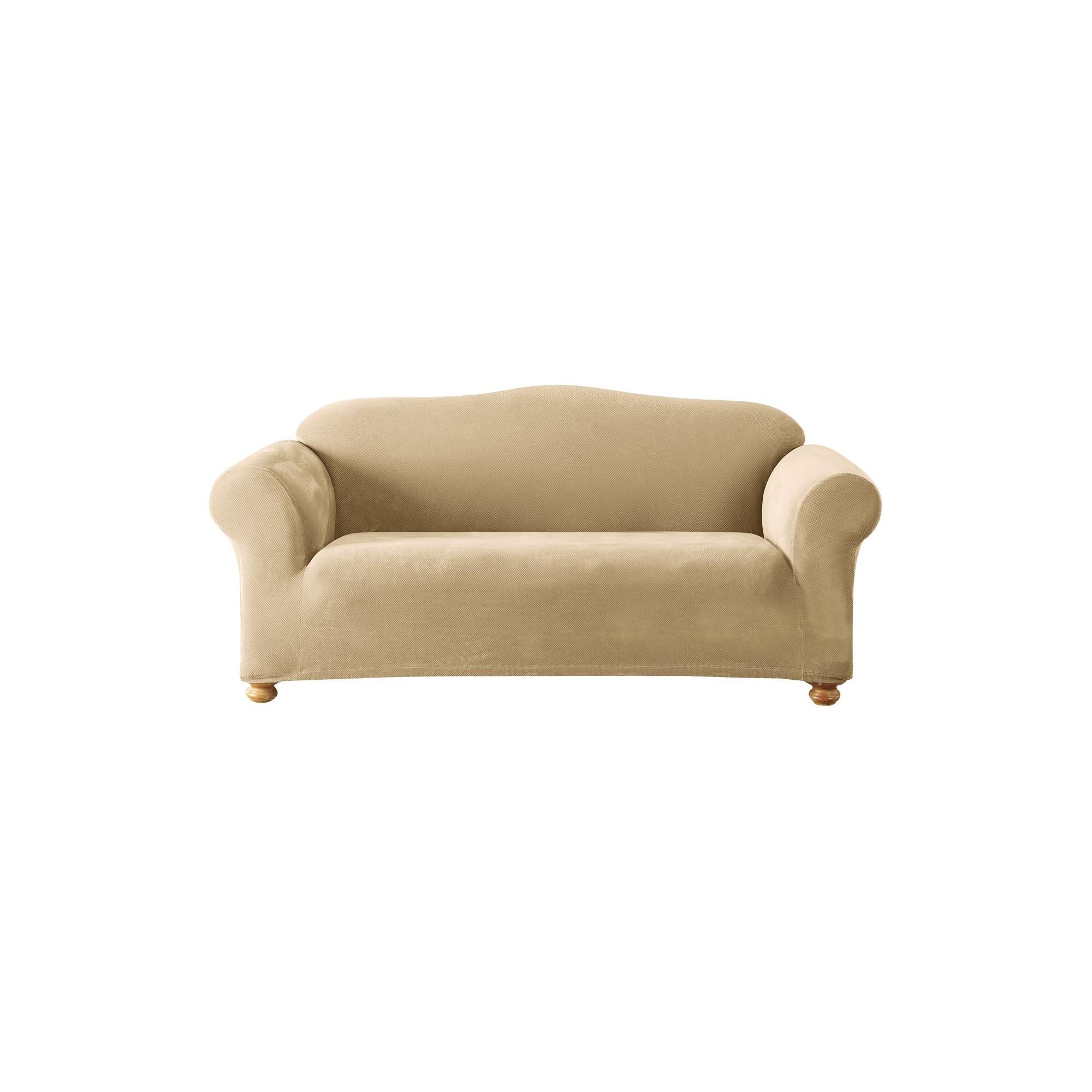 Stretch Pique Sofa Slipcover Cream - Sure Fit, Ivory