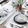 Dessert Bowl Stoneware Black / White - Hearth & Hand™ with Magnolia - image 2 of 4