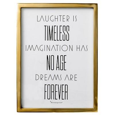 Laughter is.. Gold Framed Wall Art - 3R Studios