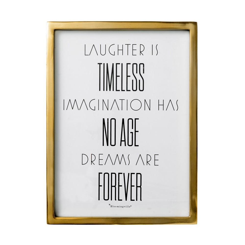 Laughter is.. Gold Framed Wall Art - 3R Studios, White