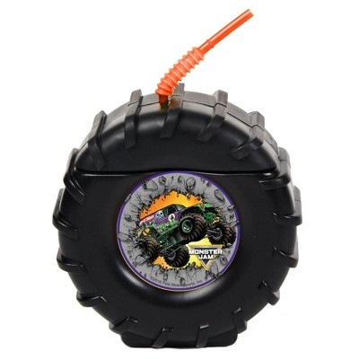 Birthday Express Tire Molded Cup with Monster Jam Sticker - 8 Pack