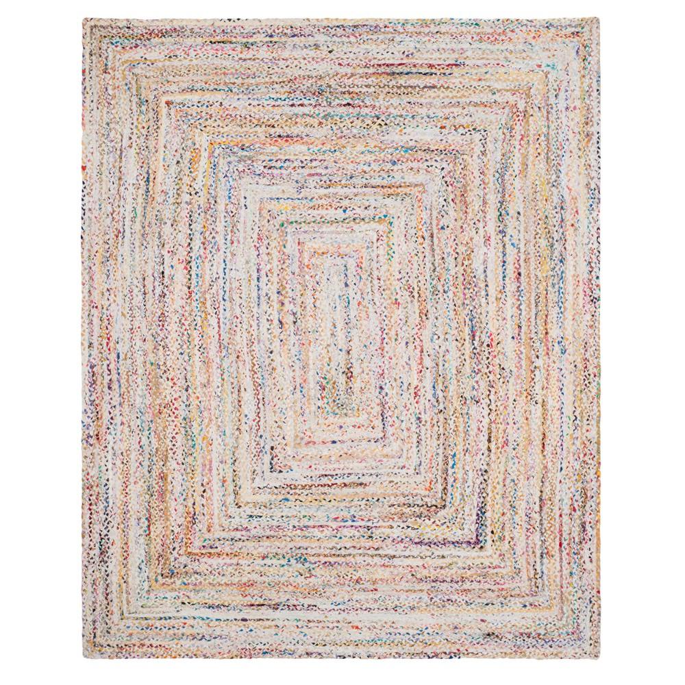 Ivory Swirl Woven Area Rug 8'X10' - Safavieh, Ivorynmulti-Colored