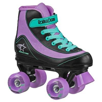 Roller Derby FireStar Youth Girl's Roller Skate - Purple/Black/Mint