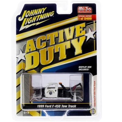 1999 Ford F-450 Tow Truck POLICE California Highway** Johnny Lightning MiJo 1:64