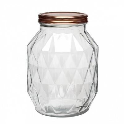 Amici Home Dakota Glass Canister, Large, 108oz