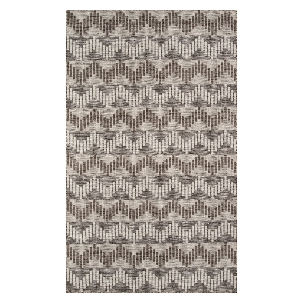 9'X12' Stripe Woven Area Rug Gray - Momeni