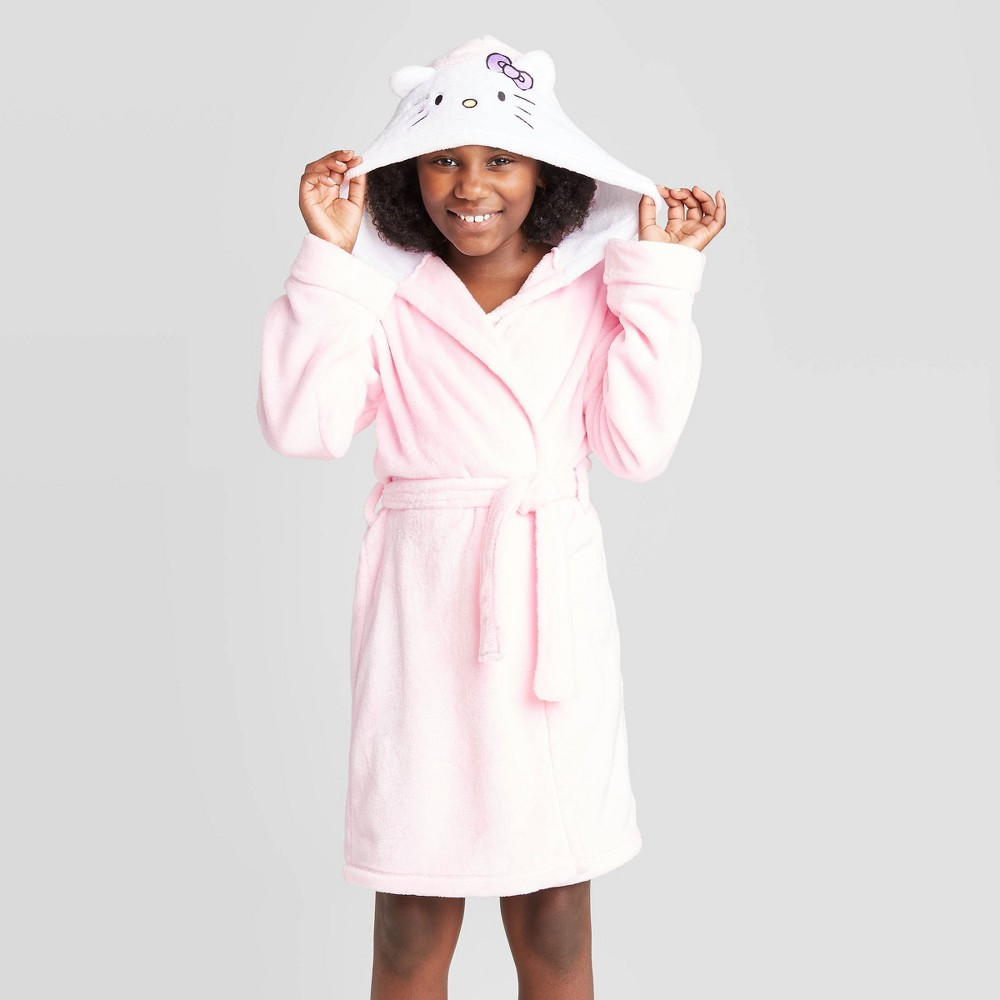 Image of Girls' Hello Kitty Robe - Pink M, Girl's, Size: Medium