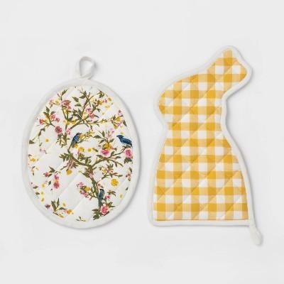 Bunny and Egg Pot Holder Set - Threshold™