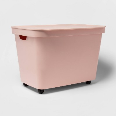 21.1gal Rolling Toy Chest Peach - Room Essentials™