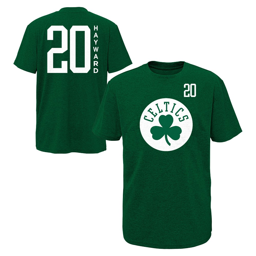 Boston Celtics Boys' Performance Player T-Shirt XL, Multicolored