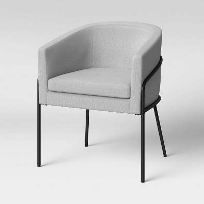 Modern Metal Base Barrel Chair Gray - Project 62™