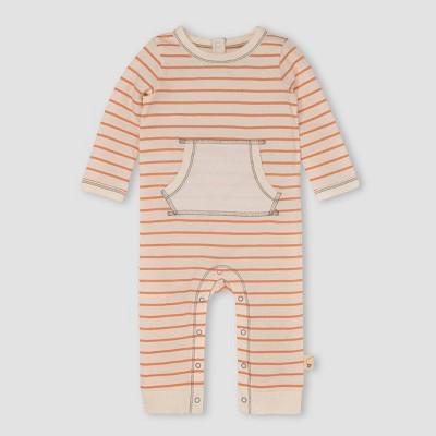 Burt's Bees Baby® Baby Herbivorous Striped Jumpsuit - Orange 6-9M