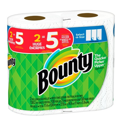 bounty select a size paper towels huge rolls target