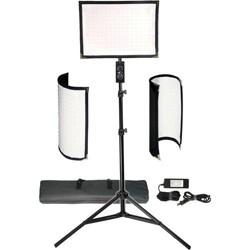 VidPro FL-180 Flexible Vari-Color LED Light Panel Kit with 6' Stand