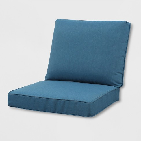 Rolston Outdoor Seat and Back Chair Cushion Blue - Grand Basket - image 1 of 1