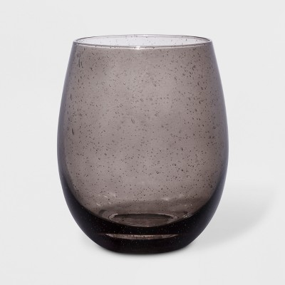 17oz Stemless Wine Glass Gray - Threshold™
