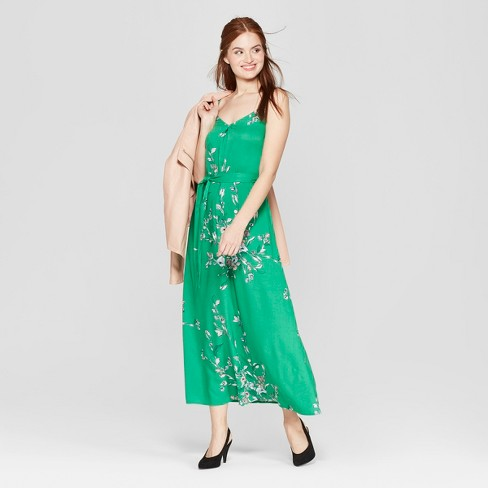 5626404e6622 Women s Floral Print Sleeveless Maxi Dress - A New Day™ Green   Target
