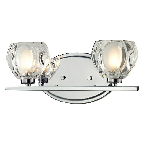 Vanity Wall Lights with Clear and Frosted Glass (Set of 2) - Z-Lite