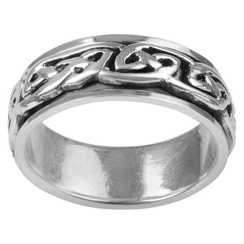 Men's Vance Co. Sterling Silver Celtic Knot Spinner Fashion Band - Silver (8mm) - image 1 of 3