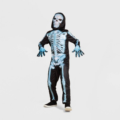 Kids' X-Ray Skeleton Halloween Costume Jumpsuit with Accessories - Hyde & EEK! Boutique™