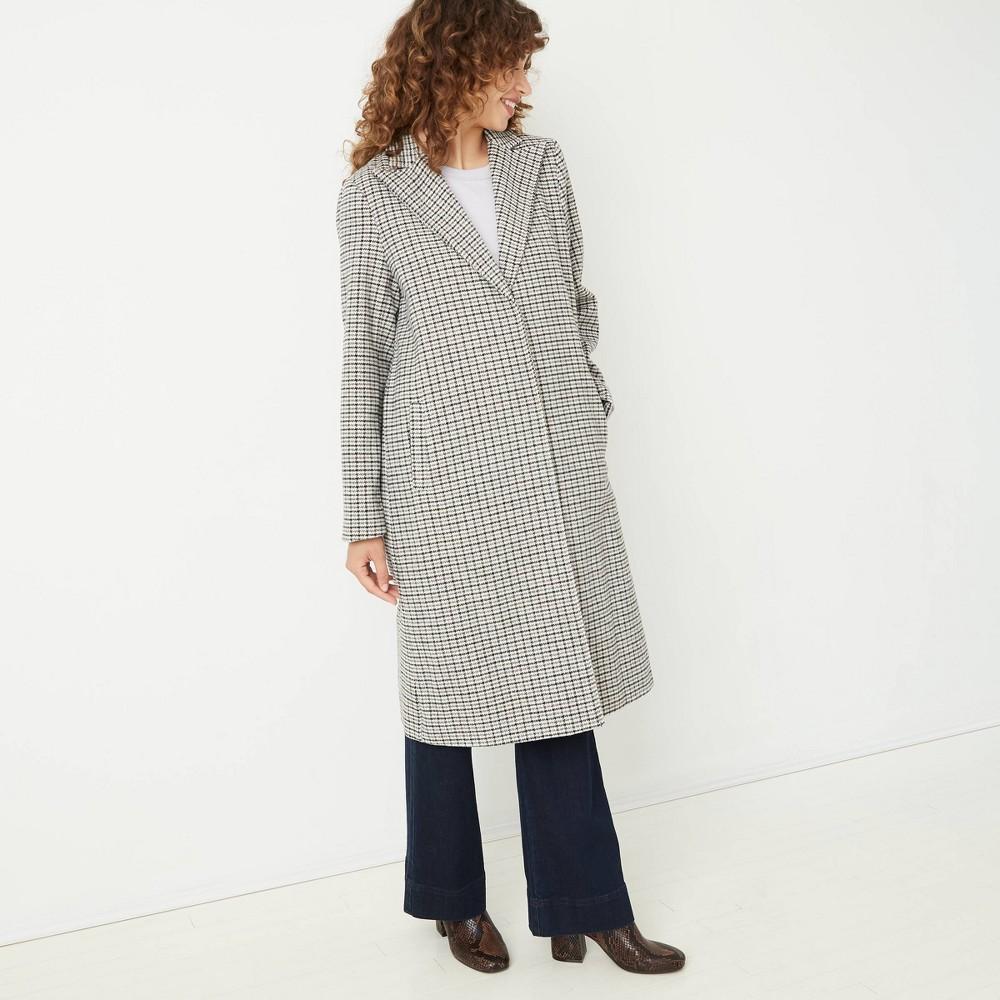 70s Jackets, Furs, Vests, Ponchos Womens Overcoat - A New Day Black XXL $74.00 AT vintagedancer.com
