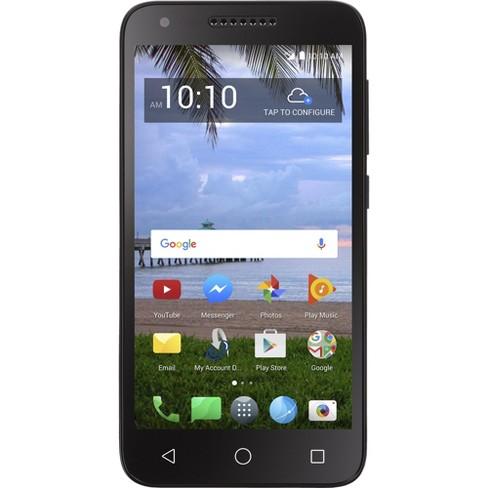 huge discount 53ec8 d4538 Tracfone Prepaid Alcatel Raven LTE (16 GB) - Black