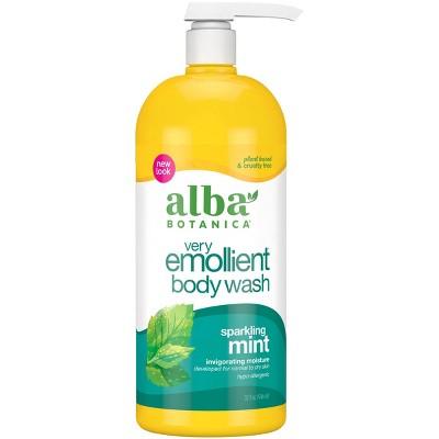 Alba Botanica Very Emollient Sparkling Mint Bath & Shower Gel 32oz