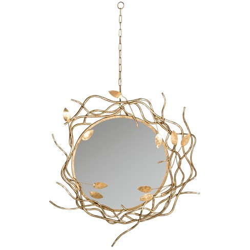 Round Gold Branches Decorative Wall Mirror with Chain - Safavieh® - image 1 of 3