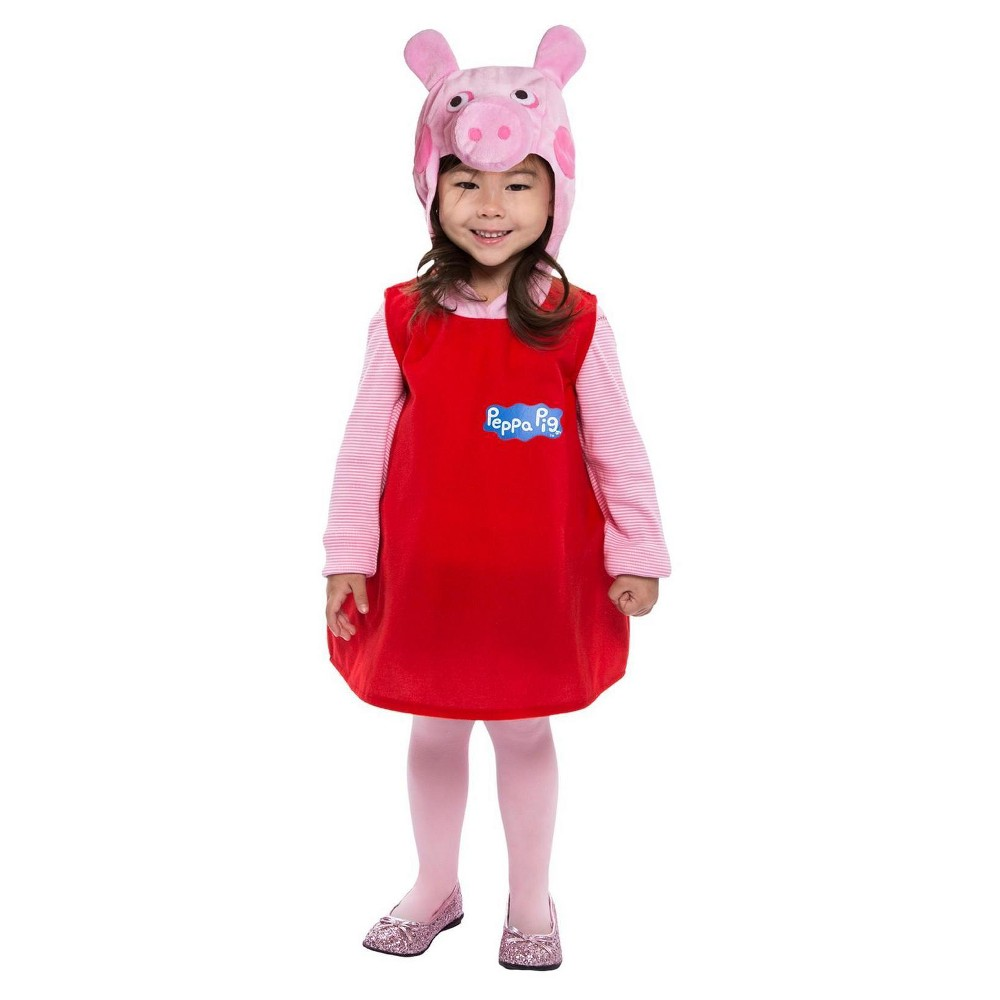 Toddler Peppa Pig Dress Costume - 2T, Toddler Girl's, Multicolored