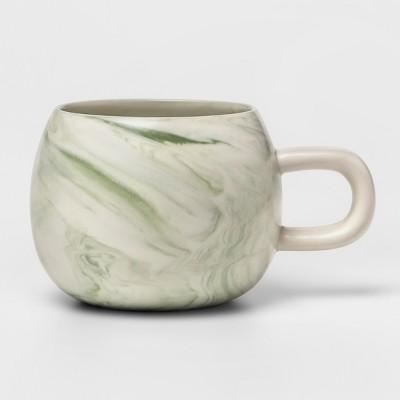 10.3oz Stoneware Marbleized Mug Green - Project 62™