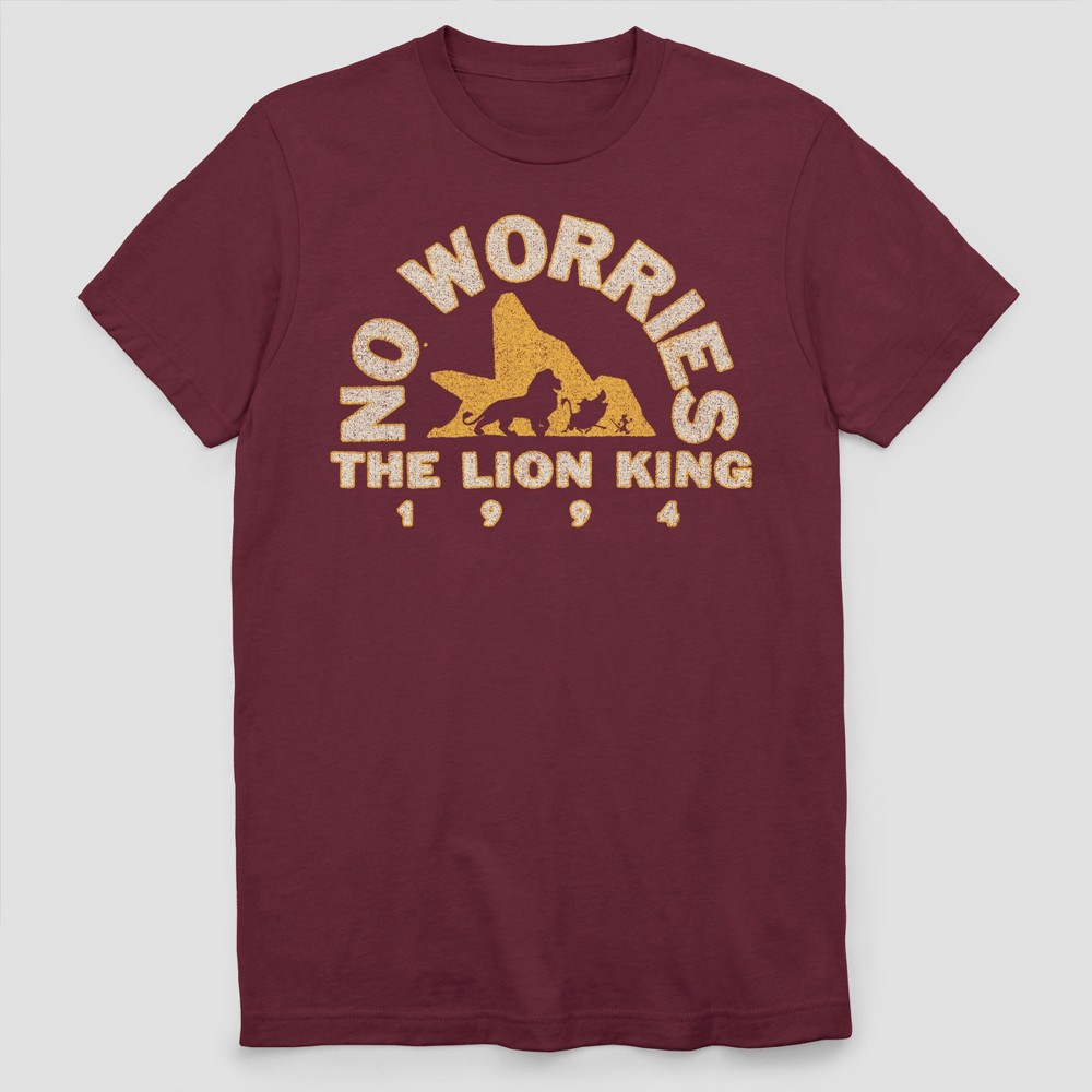 Men's The Lion King Short Sleeve Graphic T-Shirt - Maroon 2XL, Red