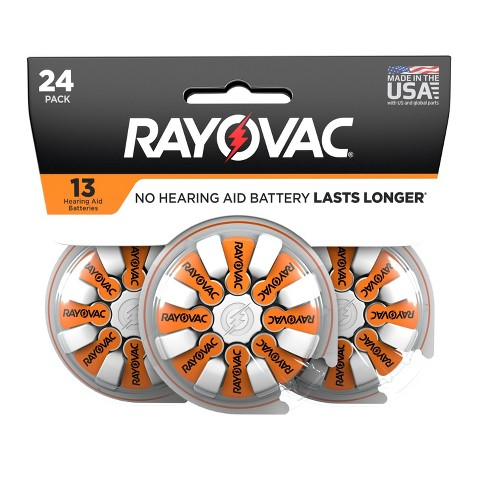 Rayovac Size 13 Hearing Aid Battery - 24pk - image 1 of 6