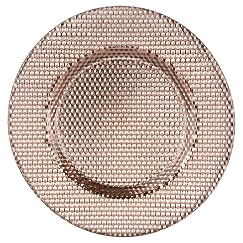 "10 Strawberry Street 13"" Deco Glass Charger - Copper - image 1 of 1"