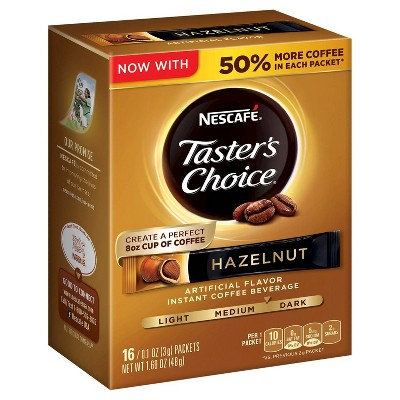 Nescafé Taster's Choice Hazelnut Gourmet Dark Roast Instant Coffee - 16ct