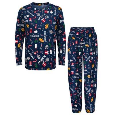NFL New England Patriots Boys' End Zone Crew Neck Pajama Set