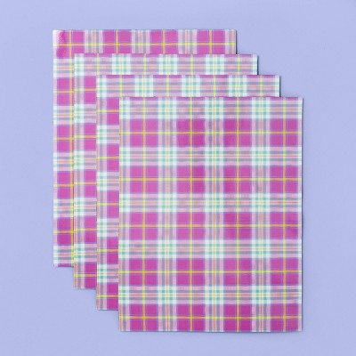 More Than Magic™ Girl Talk 4 Sheets Magnetic Wall Paper - Plaid