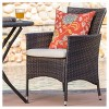 Malaga 3pc All-Weather Wicker Patio Bistro Set - Brown - Christopher Knight Home - image 4 of 4