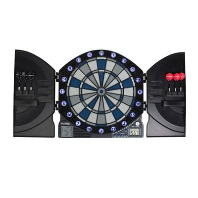Bullshooter™ Illuminator 3.0 Electronic Cabinet and Dartboard Set - Black