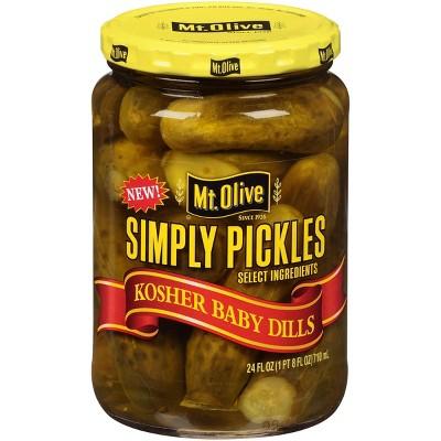 Mt. Olive Simply Pickles Kosher Baby Dills - 24 fl oz