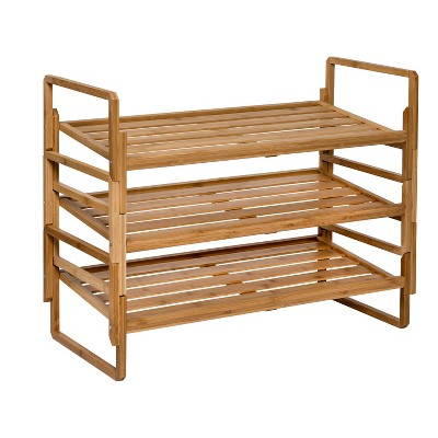 Honey-Can-Do 2-Tier Nesting Bamboo Shoe Rack