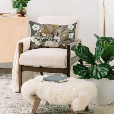 Iveta Abolina Aspen Sage Oblong Lumbar Throw Pillow Green - Deny Designs : Target