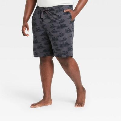 "Men's Big & Tall 9"" Regular Fit Knit Pajama Shorts - Goodfellow & Co™ Charcoal Gray"