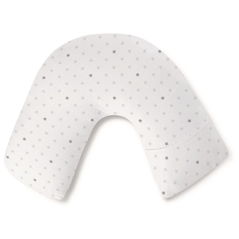 aden by aden + anais nursing pillow cover, dove, White