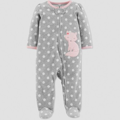 Baby Girls' Fox Sleep 'N Play - Just One You® made by carter's Heather Gray 3M
