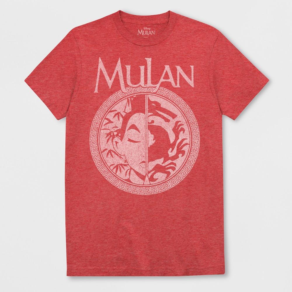 Men's Short Sleeve Disney Mulan T-Shirt - Ripe Red Heather XL