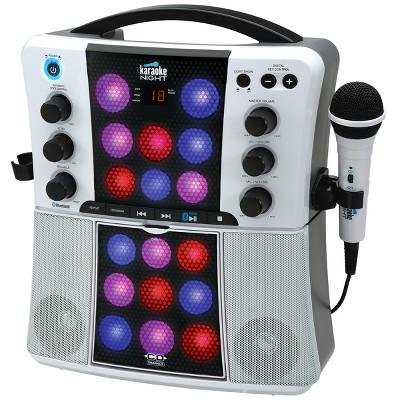 Karaoke Night Bluetooth CD+G Karaoke Machine with LED Light Show (KN200)