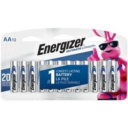 Energizer L91SBP-12 Ultimate Lithium AA Universal Battery - 12pk