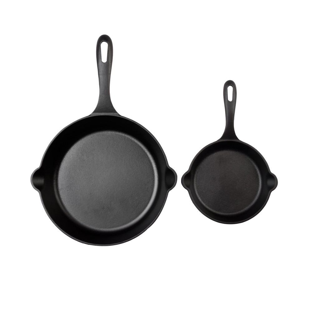 "Image of ""Victoria 6.5""""& 10"""" Preseasoned Cast Iron Skillet Set"""
